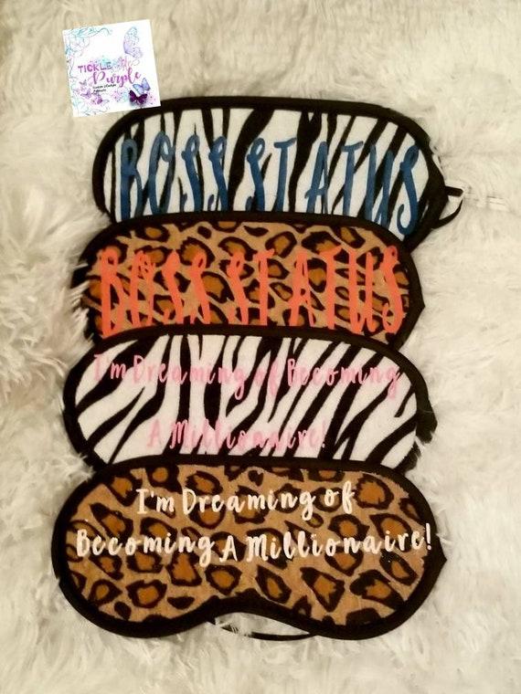 Custom Animal Print Sleep Masks