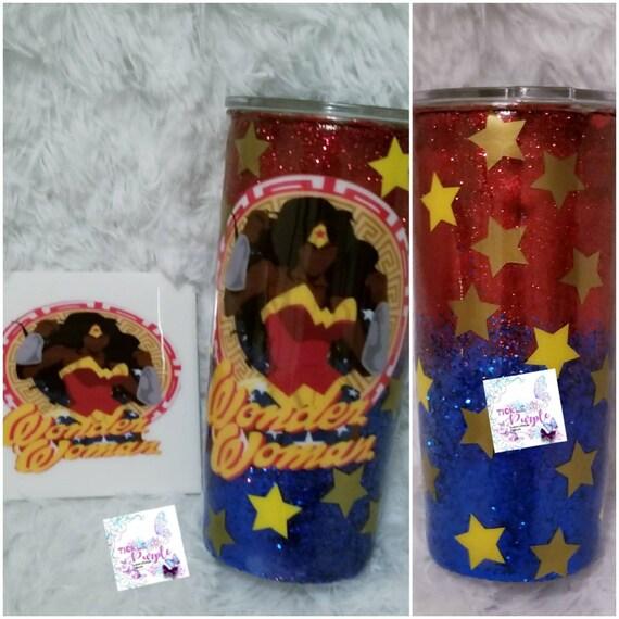 Wonder Woman 24 oz Tumbler and Coaster Set