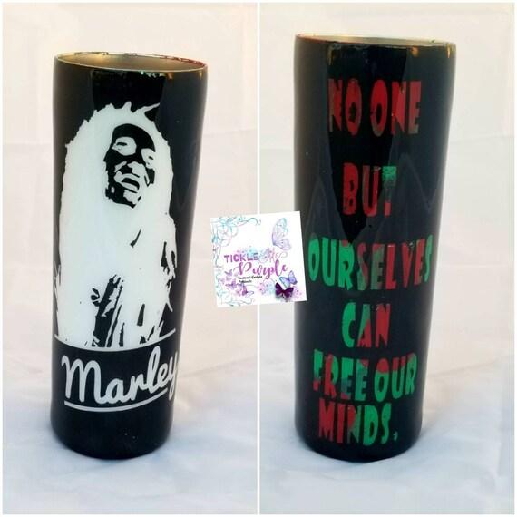 Custom 20 0z Skinny Bob Marley Tumbler