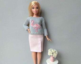 Barbie curvy clothes Barbie clothes Doll clothes Barbie clothing Barbie apparel Barbie curvy sweater  Barbie curvy skirt