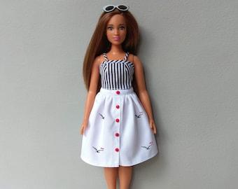 Barbie curvy clothes Barbie clothes Doll clothes Barbie clothing Barbie apparel Barbie curvy skirt Barbie curvy top