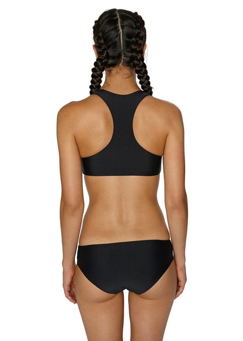 Black Full Coverage Classic Bikini Bottom