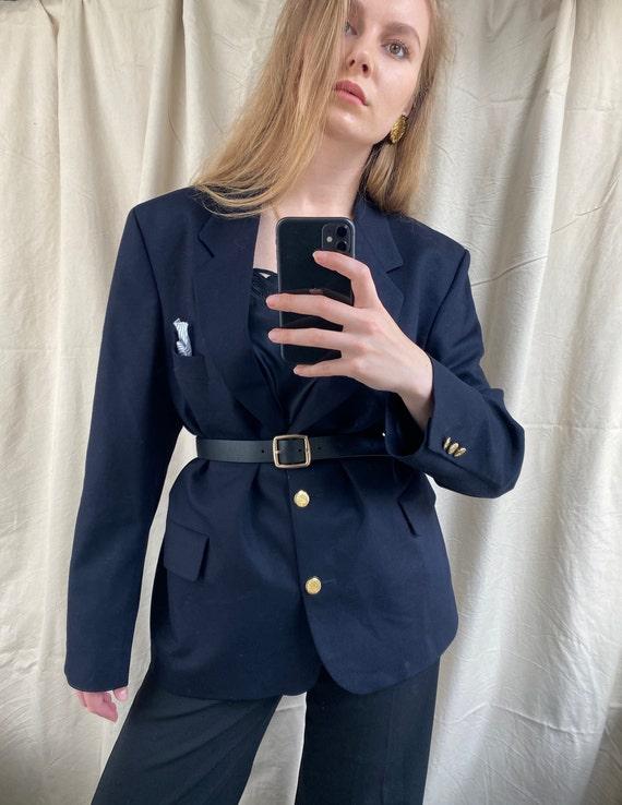 Vintage Burberry navy blazer   Oversized stylish … - image 5
