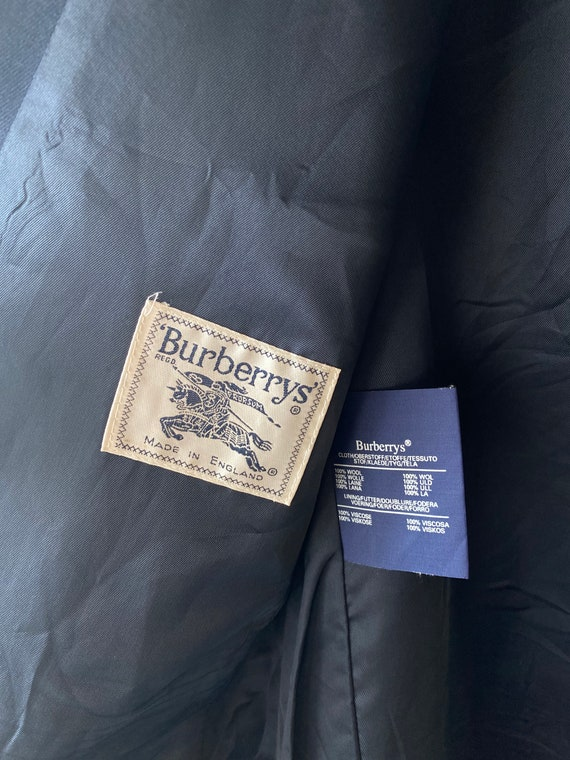 Vintage Burberry navy blazer   Oversized stylish … - image 9