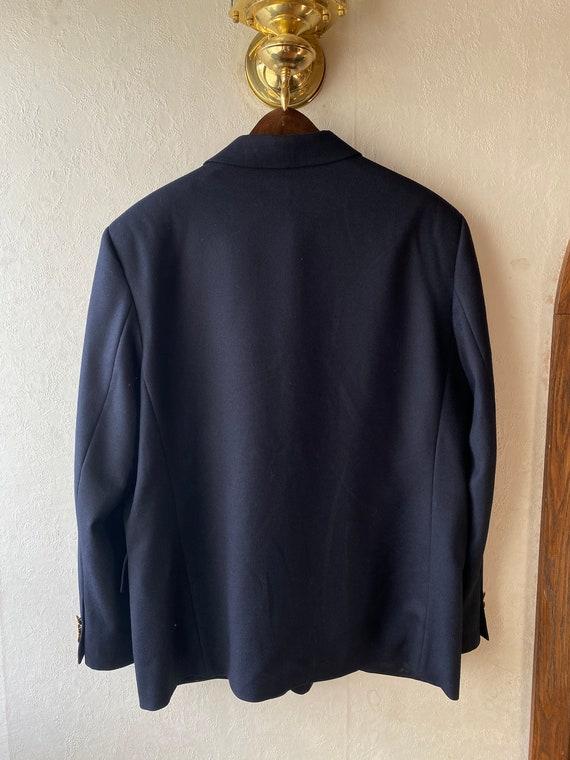 Vintage Burberry navy blazer   Oversized stylish … - image 10