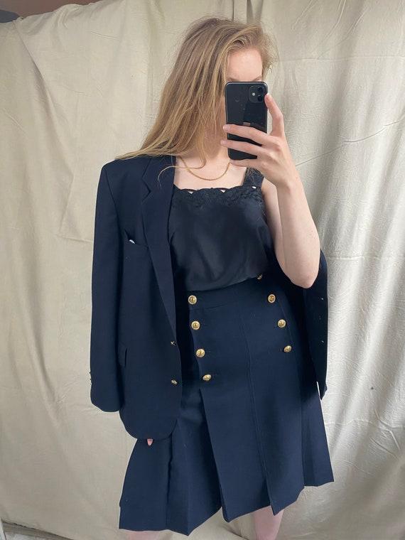 Vintage Burberry navy blazer   Oversized stylish … - image 6