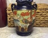 Satsuma Vintage Moriage Bird Vase