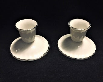 Syracuse Fine China Debonair Silhouette Candle Holders