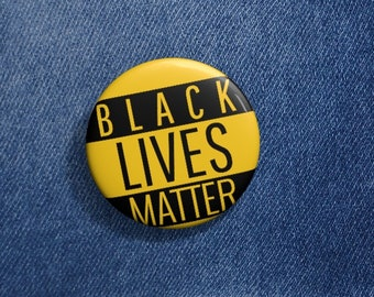 Yellow Black Lives Matter,  BLM, Freedom, Justice, Social Justice, Pin, button, Custom Pin Buttons