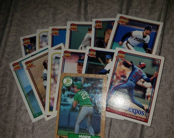 Baseball Card Lot Etsy