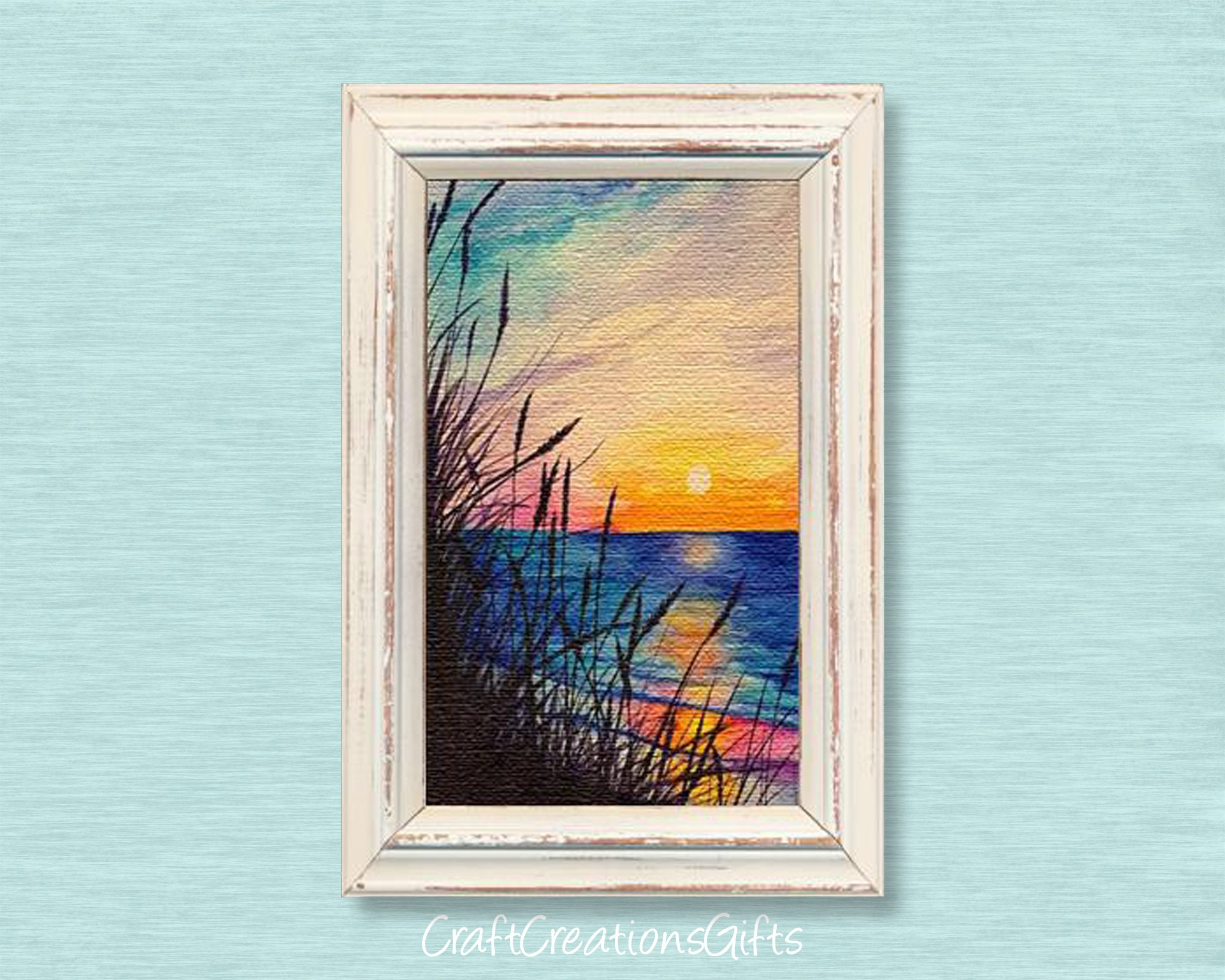Miniature Art SEASCAPE Dollhouse Picture MADE IN AMERICA FAST DELIVERY
