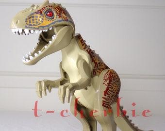 Large T Rex Jurassic World Minifigure Fallen Kingdom Dinosaur Indominus Rex Park