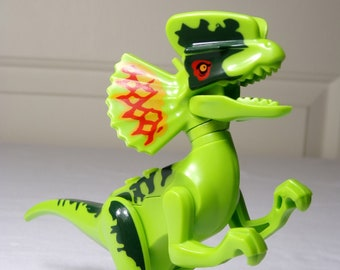 1993 Kenner Jurassic Park Dilophosaurus Dilo Toy Water Squirter Rubber