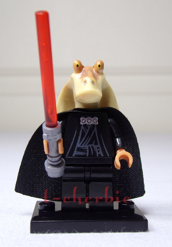 Darth Jar Jar Binks Star Wars Minifigure Stand Sith Lord The Phantom Menace Theory Kotor Toy Gift Mini Figure Building Block Free Ship