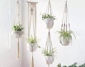 4 Pack Macrame Plant Hanger Boho Home Decor Beautiful Plant Decor Plant Lover