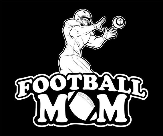 Football Mom Vinyl Decal Sticker