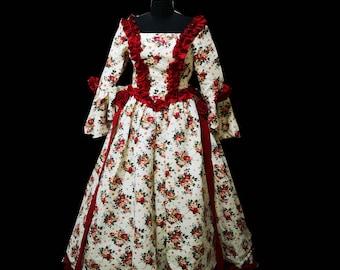 deb52bb0f40a 2019 New printed broadcade elegant Halloween Cosplay dress Renaissance  Gothic Historical dress D-336