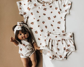 Baby Clothing Set Lounge Set Parchment Clothing Set Toddler Clothing Set Shorties Shorts