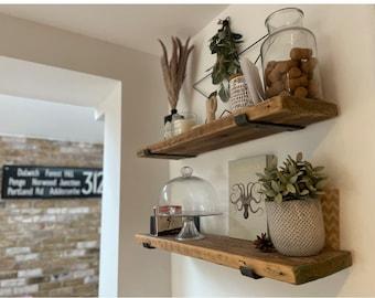 Scaffold Board Shelf Wooden Handmade Shelves Reclaimed Recycled