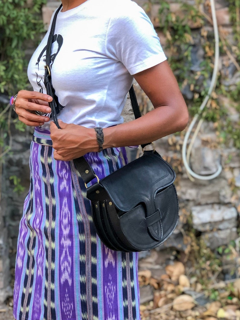 Made in Colombia Leather Cross Body Messenger Bag
