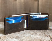 Mens Slim Wallet. Personalized Leather Wallet. Mens Bifold Leather Wallet. Fathers Day Gift. Groomsmen Wallet. Gift for boyfriend