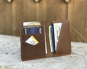 Bifold Wallet Personalized Credit Card Case Full Grain Leather Wallet Customized Wallet Womens Wallet  SAND Business Card Holder