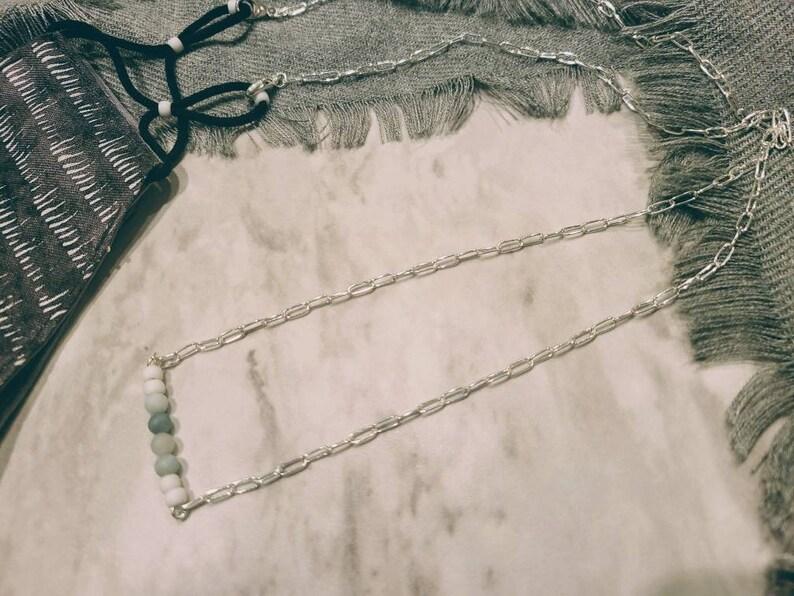 Aventurescence Necklace  Sterling Silver Mask Necklace  Let image 0