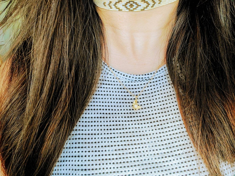 Sun & Moon Necklace  24k Gold Mask Necklace  Let There Be image 0