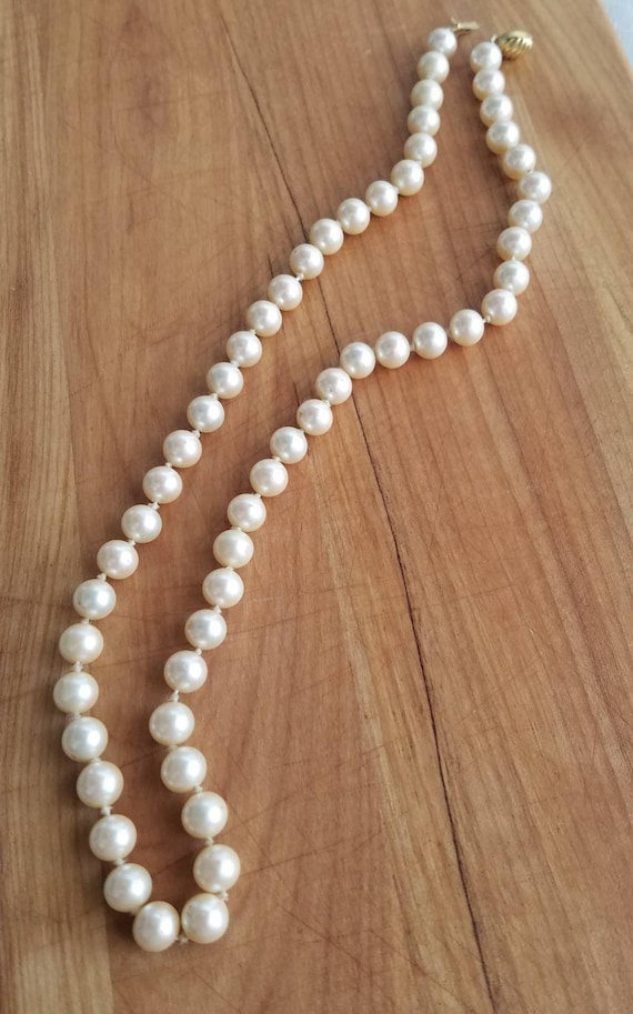 Signed Marvella Faux Pearl Necklace