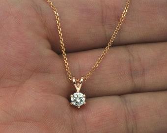 39b69ce6c750f Vvs diamond pendant | Etsy