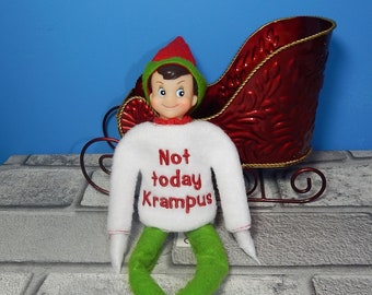 d3769daebbb Not Today Krampas- Elf Sweater Embroidery Design - ITH - In The Hoop -  Machine Embroidery Design -