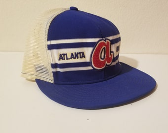 low priced 9f130 7175c Atlanta Braves Vintage Snap Back Authentic Licensed MLB Professional  Baseball Cap