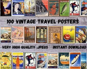Travel Posters / SVG Vintage Travel Poster / Vintage Poster / Vintage Travel / Vintage / Travel Poster / Travel Source / SET 3