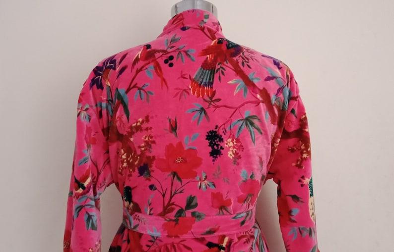 Women Clothing Comfortable soft women velvet jacket Cotton Velvet Jackets Bird Print Indian handmade Velvet Coat Winter wear jackets