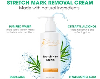 Natural Stretch Mark Removal Cream   Pregnancy gift   Pregnancy Cream   Cellulite skin & thightening  Organic Skincare Product For Men/Women