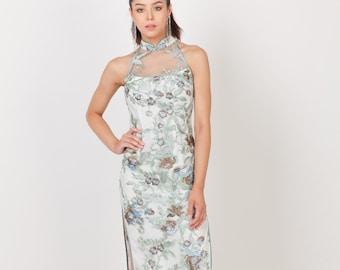1f1f752ad Custom Made Modern Cheongsam   Modern Qipao   Mandarin Collar   Halter  Sleeveless Lace Traditional Qipao   Chinese Dress