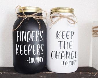 Laundry Coin Jar Etsy