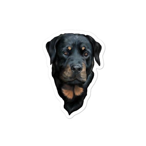 Rottweiler dog Vinyl decal sticker Water bottle// glass etc
