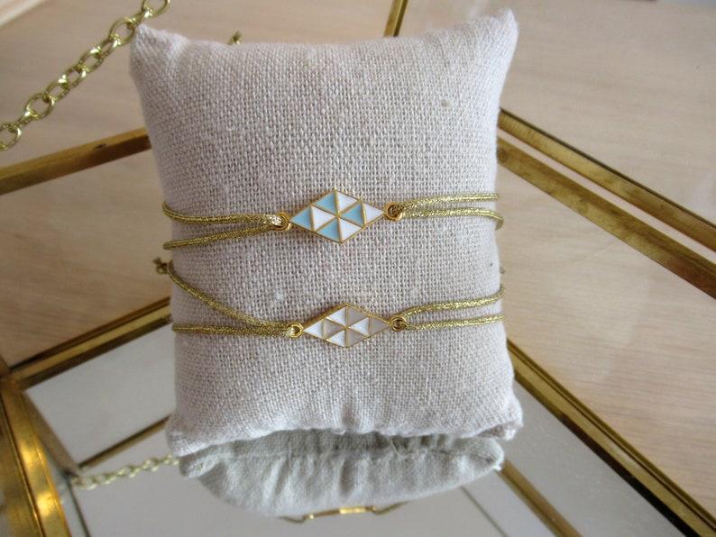 Friendship bracelet Golden bracelet  Fine bracelet  Sliding rope bracelet