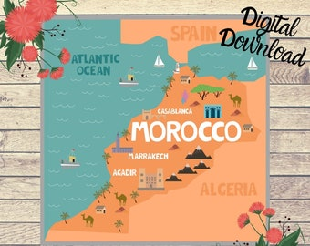 Morocco large map | Etsy on map of africa, map of the us, map of greece, map of senegal, map of the mediterranean, map of tangier, map of atlantic ocean, map of gibraltar, map of fez, map of world, map of romania, map of marrakech, map of nicaragua, map of austria, map of mali, map of algeria, map of honduras, map of saint martin, map of western sahara, map of mongolia,