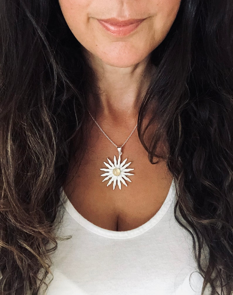 The Sun Silver Necklace