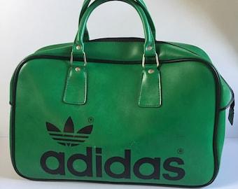 7d5edbef12d Peter Black vintage Adidas holdall green