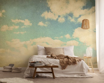 Vintage Clouds Wallpaper, Self Adhesive Wallpaper, Removable Peel And Stick  Wallpaper, Photo Wallpaper, Retro Style Mural, Wall Sticker #10