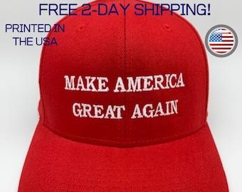 MAGA/_White Make America Great Again Embroidered Donald Trump 2016 Cloth /& Braid Hat