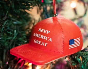 Jesus is My Savior Trump is My President Trump 2020 Donald Trump Christmas Ornament Funny Pro Trump Supporter Gift Trump Christmas Ornament