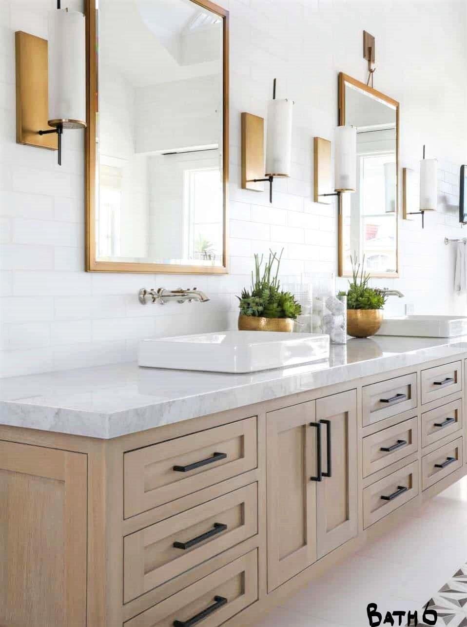 Bathroom Vanity Hair Tool Organizer Garbage Pullout Soft Close Doors Modern Chic Bathroom Cabinets Double Sink Coastal Sink Cabinet