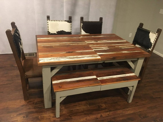 Incredible Extendable Dining Table Extendable Bench Real Barnwood Rustic Farmhouse Dining Room Table Bench Dining Set Tables Coastal Ibusinesslaw Wood Chair Design Ideas Ibusinesslaworg