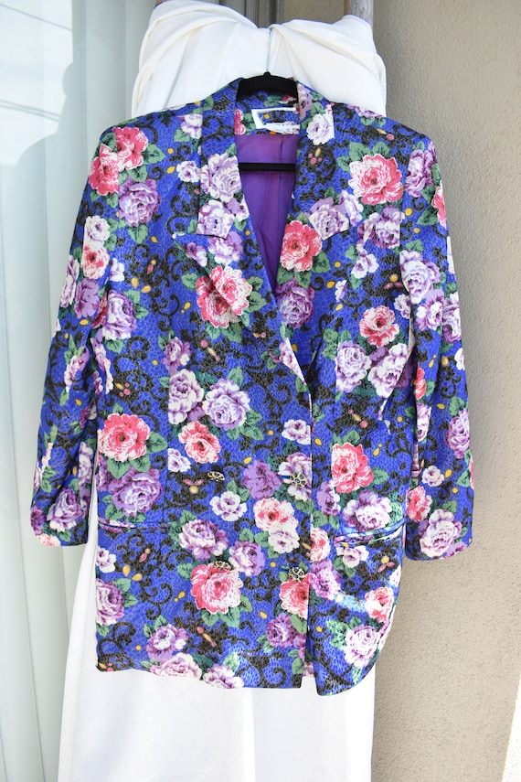 PRICE DROP - - The Royal Floral 2 Piece Suit with