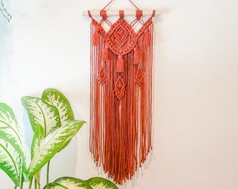 Rust Tassel Macrame Wall Hanging / Bohemian Decor / Boho Home Decor / Jungalow Style / Woven Wall Hanging / Woven Art / Nursery Wall Decor