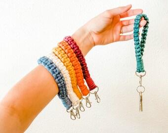 Macrame Wristlet   Macrame Keychain   Cute & Functional   Boho Accessories   Boho Gift Idea  